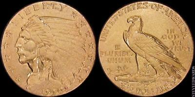 1909 Indian $2 1/2 Gold Quarter Eagle ** Nice Coin!! **