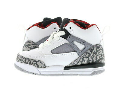 "Infant (TD) Air Jordan Spiz'ike ""Cement"" White/Varsity Red 317701-122"