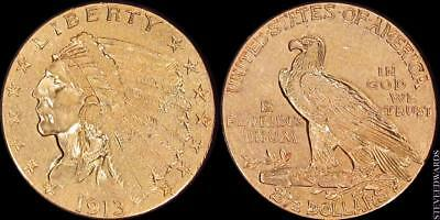 1913 Indian $2 1/2 Gold Quarter Eagle **Popular Issue **