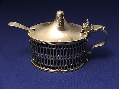 Large Antique English Sterling Silver Mustard Condiment Pot c.1897 Thomas Hayes