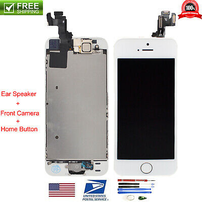White LCD Display+Touch Screen Digitizer Assembly Full Replacement for iPhone SE