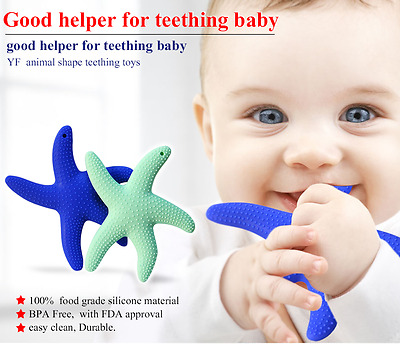 Kids silicone baby teething chewable toys, Starfish, nautical toy