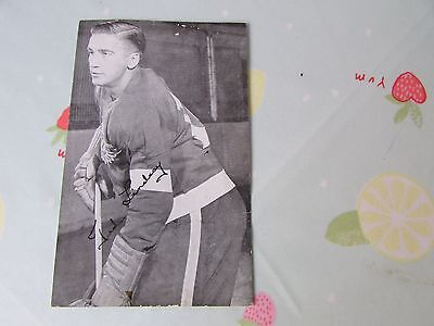 Ted LINDSAY Detroit Red WINGS Ice Hockey 1950's Photo + PRINTED Team Autographs