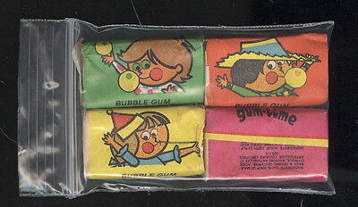 Lot Of 4 Unopened Pieces Of Gum Time Bubble Gum From Old Vending Machine