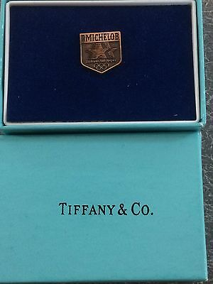 Tiffany & Co Copper Michelob Beer 1980 LA Olympic Committee Lapel Pin Tie Tack