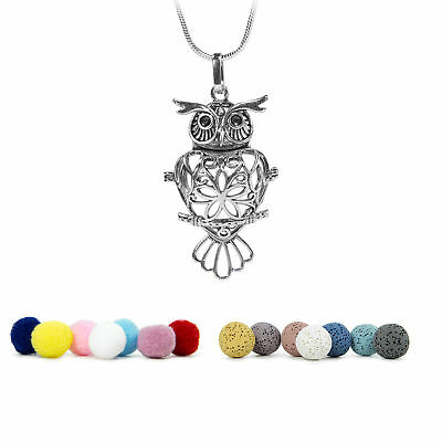 "Aromatherpy Essential Oil Diffuser Necklace Locket, w/ 24"" Sterling Silver Chain"