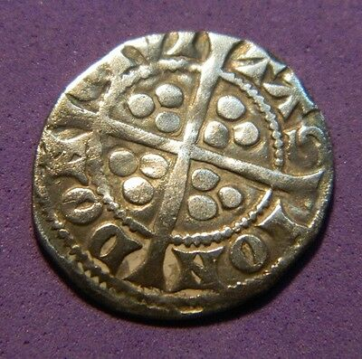 Edward 1St.(Long Shanks)  Silver  Hammered Penny London  Mint 1272-1307.(Md2
