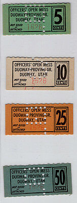 Dugway Proving Ground Utah, Officer's Open Mess, 5, 10, 25 and 50 Cents