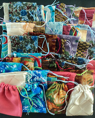 Quality Recycled Fabric Bags/Pouches Markets Gift Packaging BULK LOT x25 SALE