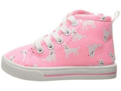Girl's Toddler CARTER'S GINGER Pink Poodle Lace/Zip Up Casual Sneakers/Shoes NEW