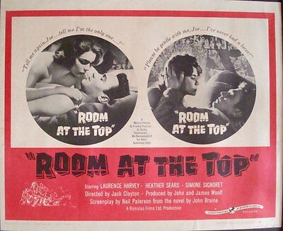 ROOM AT THE TOP half sheet movie poster 22x28 SIMONE SIGNORET HARVEY 1959