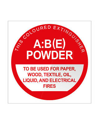 2 x FIRE EXTINGUISHER ABE LOCATION SIGNS - FREE POSTAGE