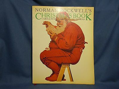 Norman Rockwell's Christmas Book-Holiday Carols, Stories,poems,recollections