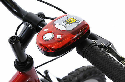 Battery Cycle Hooter Red Multi Sound Led Light Electric Bike/scooter Horn
