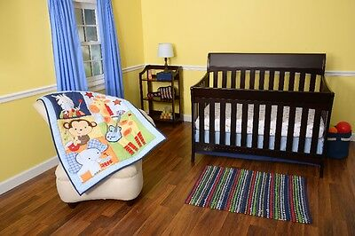 Riegel Tune Time Collection Baby 3-Piece Crib Bedding Set Jungle/Music Theme