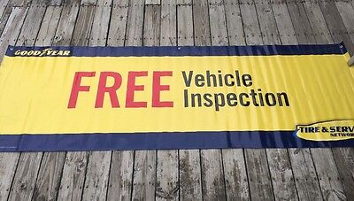 GOODYEAR Tire & Service Center Advertising Banner FREE VEHICLE INSPECTION 9' L