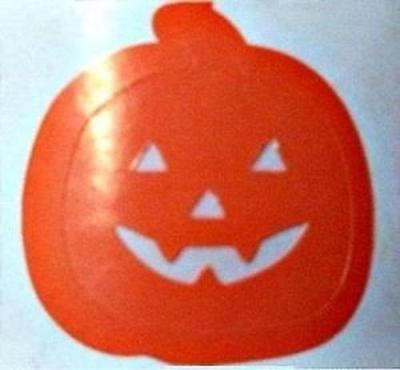 1X Pack Of 100 X Pumpkin Tanning Stickers Spray Tan Tantoo Tantoos