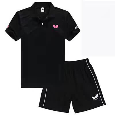 2017 Tennis men's Tops table tennis clothing Set T-shirt+shorts 369