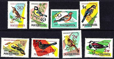 Hungary 1961 Mint Birds Complete Set MNH