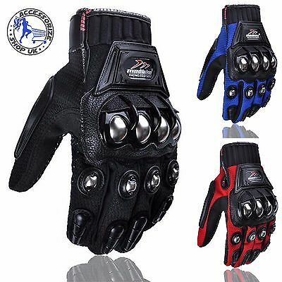 Motorcycle Armoured Knuckle Metal Bike Gloves Motorbike Motocross Protect Biker