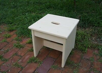 """12"""" tall 12x12 Handcrafted Heavy Duty Wood Step Stool, Kitchen Bench, Pick Color"""
