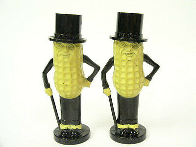 "Original Vintage 1950`s Planters Mr. Peanut 4"" Salt and Pepper Shakers by Pyro"