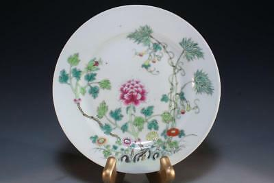 Antique Chinese Famille Rose Porcelain Plate,
