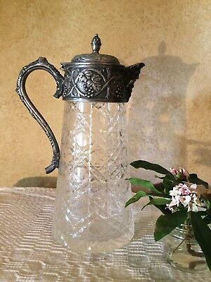 Fabulous Large Antique Vintage Glass Claret Jug Decanter