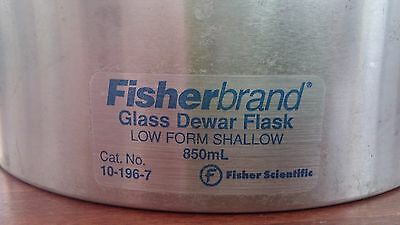 FISHERBRAND 10-196-7 GLASS DEWAR FLASK LOW FORM SHALLOW 850ML Fisher Scientific