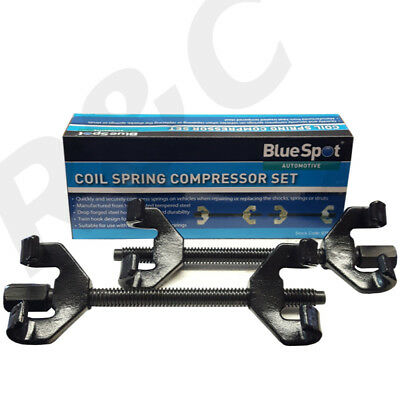 Smooth Hook Coil Spring Compressors 2 Piece Car Van Set Double Hook Twin Clamps