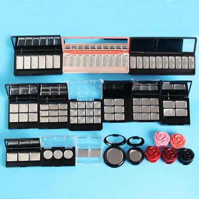Empty Eyeshadow Case Lipstick Pans Eyeshadow Brushes Pigment Palette Refillable