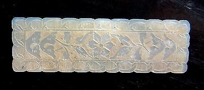 Rare Jeton Chinois Sulpte En Nacre - Chinese Mother Of Pearl Gaming Token / Chip