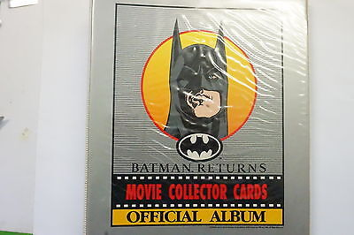 Batman Returns set of 150 cards and 20 poster stickers plus Official album 1992