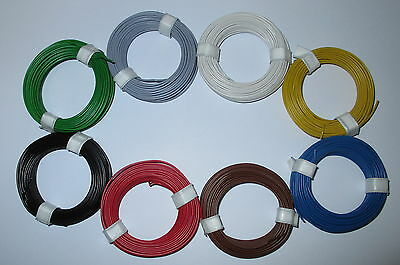 [1m = Stranded Wire Flexible 18X0, 10 8 Rings A 10 Meter NEW