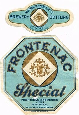 1900s CANADA Frontenac Special Beer Stephens Collection Tavern Trove