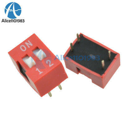 100PCS Slide Type Switch Module 2.54mm 2 Position Way DIP Red Pitch