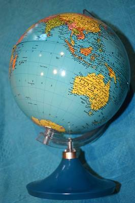 "Collectable VINTAGE 9"" Diameter REVOLVING World Globe EXCELLENT as new CONDITION"