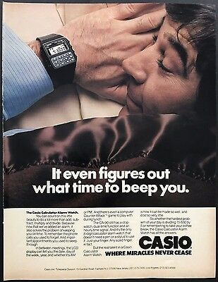1981 Casio CA-90 Watch Vintage Print Advertisement