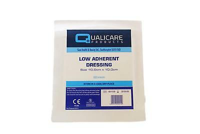 Qualicare Low Adherent Dressing - Pack of 100 (Choose Size)