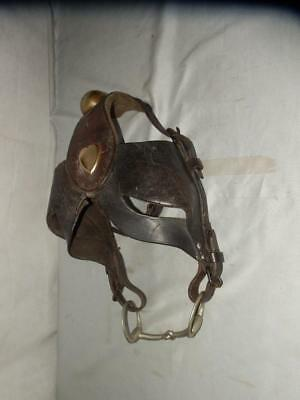 Vintage Colliery Leather Brass Pony Horse Bridle. And Bit  (Pit Pony)