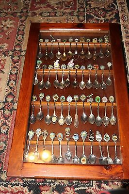 Lot of Vintage Sterling Silver Plated Collector Souvenir Spoons  48 pieces