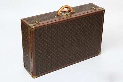 LOUIS VUITTON Monogram Canvas Alzer Anglais 80 Hardsided Suitcase