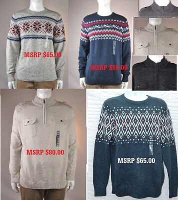 Wholesale lot NEW NWT 11 Men's Sonoma & Apt. 9 Sweaters New with Tags MSRP $790
