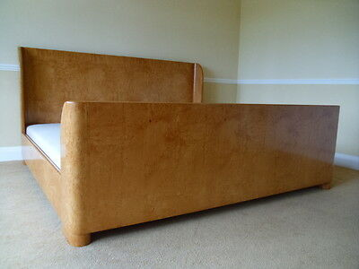 Huge Art Deco Bed From And So To Bed London Emporer Size Sleigh Bed