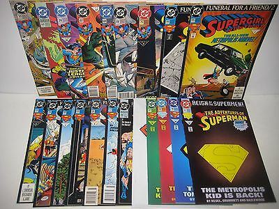 Death of Superman Lot 42 Issues Complete Story Man of Steel 18 Doomsday