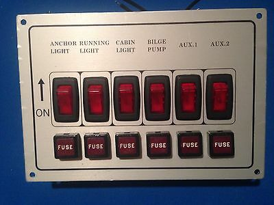 """12 volt electric control panel 4.5 """" X  6.5"""", 6 position lighted controls"""