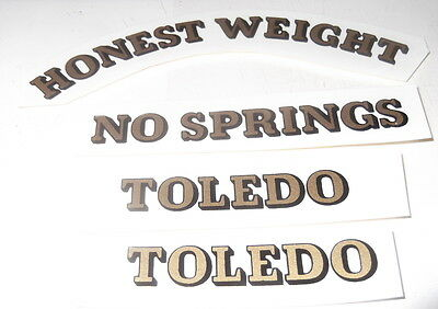 Toledo Candy Scale Decal Set Water Transfer Style
