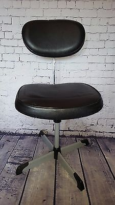 Vintage Retro Mid Century Steno Chair Adjustable Office chair Machinist Black
