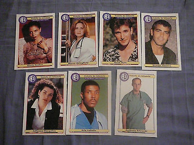 Salle D'urgence Lot De 7 Cartes / Er Lot Of 7 Cards George Clooney Clippings