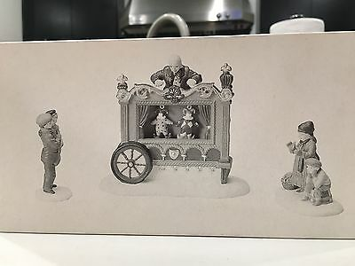 Dept 56 Dickens Village - The Old Puppeteer - 3 Pc Set - No Box